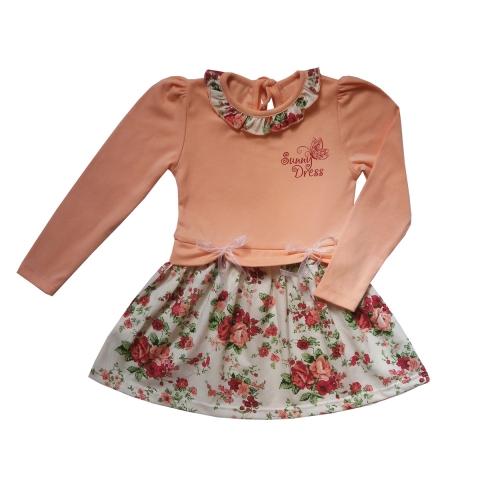 Платье Модель 296 персиковый