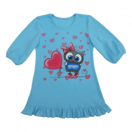 Сорочка Модель 424 голубая