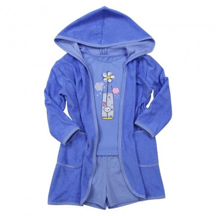 Халат Модель 884 голубой костюм
